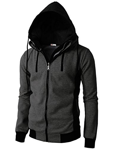 h2h-mens-casual-high-neck-hoodie-zip-up-with-double-zipper-details-charcoal-us-m-asia-l-kmohol013