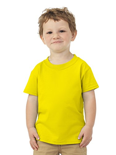 Fruit of the Loom Toddler 5 oz, 100% Heavy Cotton HD T-Shirt 2T YELLOW ()