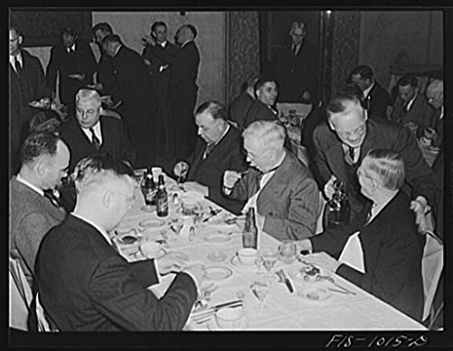Reproduced Photo of Minneapolis, Minnesota. At a meeting of the Swedish Club, a businessmen39;s social organization. The club has been in existence for many years and in addit 1942 Delano C Jack 75a by Vintography