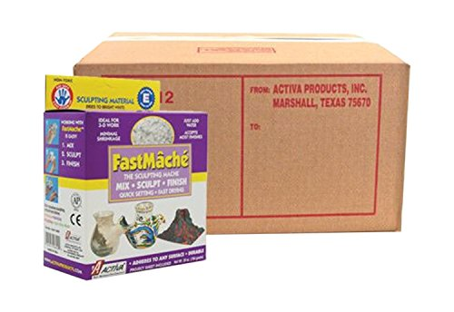 Activ Clay Air (Activa 612 Activa Fast Mache The Sculpting Mache Bright White 12 Lb - Bulk Box)