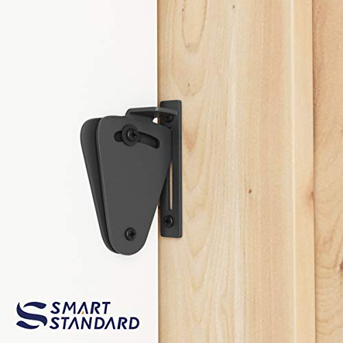 SMARTSTANDARD Barn Door Small Size Latch Lock Privacy Lock for Sliding Door Work for Pocket Doors Garage and Shed Wood Gates