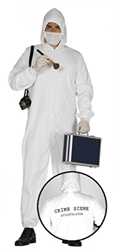 Mens Forensic Investigator Crime Scene Police Halloween TV Film Detective Fancy Dress Costume Outfit Large (Large)]()