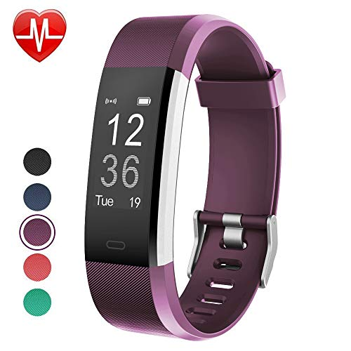 YAMAY Fitness Tracker, Fitness Watch Smart Watch Activity Tracker with Heart Rate Monitor,Sleep Monitor Step Counter 14 Sports Tracker,IP67 Waterproof,Slim Pedometer Watch for Men Women Kids (Purple) For Sale
