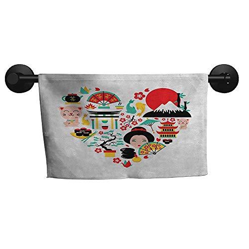 Biltmore Five Light - alisoso Japanese,Travel Towels The Land of The Rising Sun Culture Bonsai Tree Fuji Mountain Tea Sushi Zen Design Machine Washable W 35