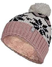 Heat Holders Lagan Chunky Jacquard Thermal Pom Pom Beanie Hat