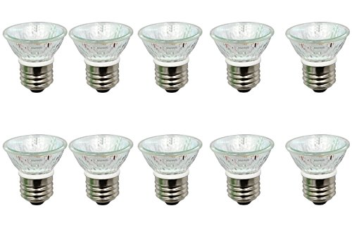 Anyray A1875Y (10-Pack) HR16 120V 25W E27/E26 MR-16 25 Watt JDR C Halogen Bulb Lamp HR 16 with Lens (25 Watts) (E26 Lens)