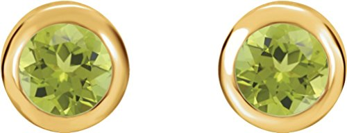 August Birthstone Stud Earrings, 14k Yellow Gold by The Men's Jewelry Store (Unisex Jewelry)