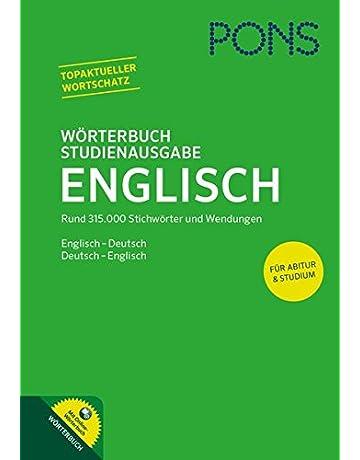 PONS Wörterbuch Studienausgabe Englisch  Englisch - Deutsch   Deutsch -  Englisch. Mit Online- 5aa1e1c438