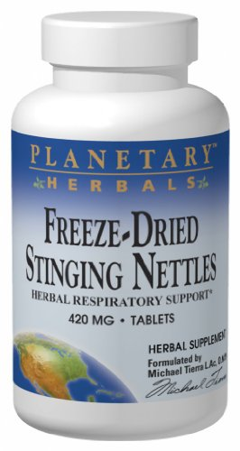 Planetary Formulas Freeze-Dried Stinging Nettles, 420 mg, Tablets, 120 tablets (Pack of 2) (Dried Freeze Nettle Leaf)