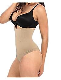 SAYFUT Strapless Body Shaper High Waist Tummy Control Panty Slim Butt lifter Thong