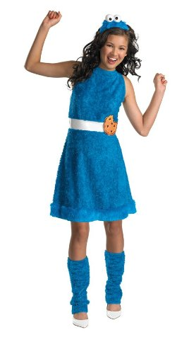 Cute Girls Costume Ideas (Cookie Monster Tween Costume - Large)