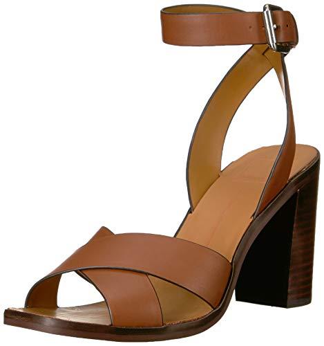 Dolce Vita Women's NALA Sandal, Brown Leather, 8 M US Dolce Vita Brown Leather