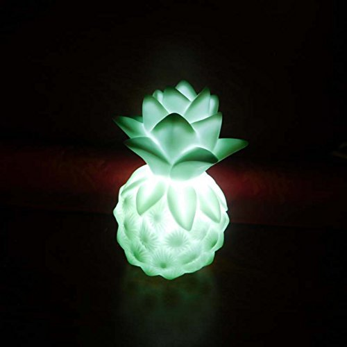 id Color Portable LED Nightlights Pear/Pineapple Lamp with Warm and Comfortable Light For Kids Baby Room Decor Toy (Optic Cocktail)