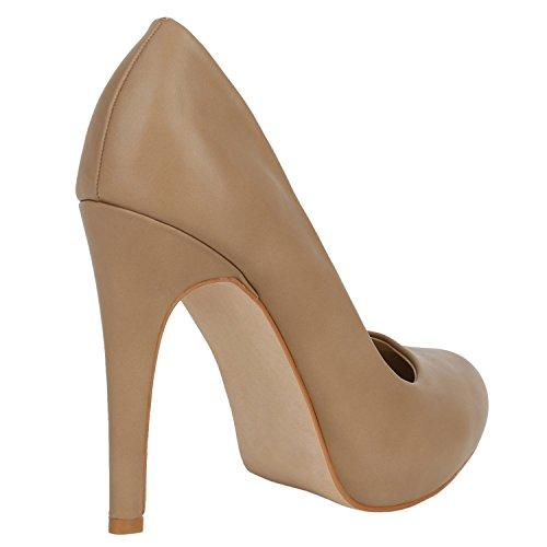 Stiefelparadies Spitze Damen Pumps Stiletto High Heels Lack Glitzer Party Schuhe Denim Snake Velours Elegante Abendschuhe Flandell Khaki Avelar