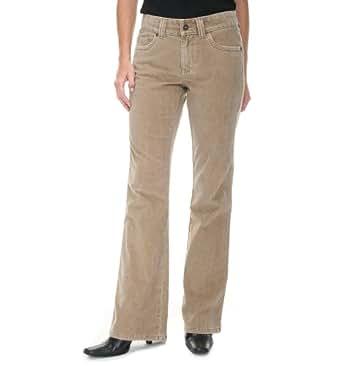 Lee Women's One True Fit Wideband Bootcut Jean, Taupe Corduroy, 7 / 8 Medium