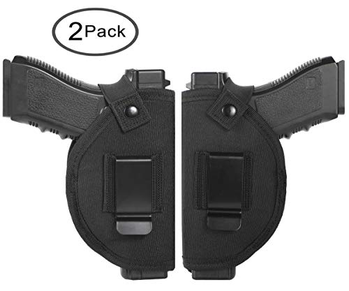 Tenako Universal Holster Gun Concealed Carry IWB OWB Right Left Holster Fits S&W M&P Shield/Glock 26 27 29 30 33 42 43 / Springfield XD XDS/Ruger LC9 & All Similar Handguns (Best Mid Size 9mm Handgun)