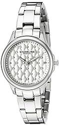 Stuhrling Original Women's 783.01 Symphony Swiss Quartz Crystal Accented Stainless Steel Link Bracelet Watch