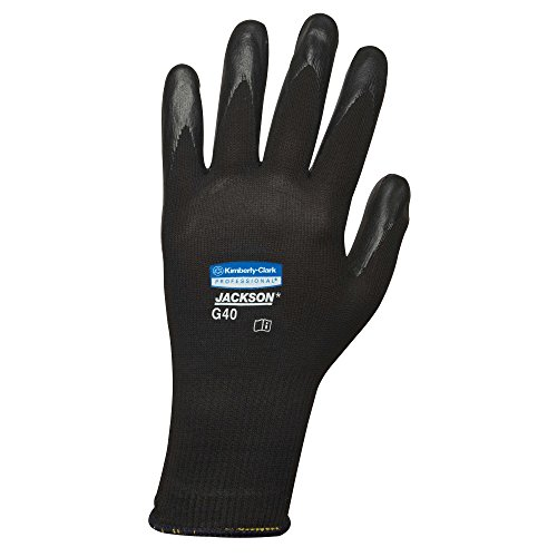 (Jackson Safety G40 Polyurethane Coated Gloves (37725), Large, High Dexterity, Black, 6 Pairs for Vending Bag)