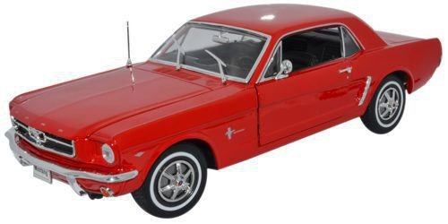 (Welly Collection 1:18 1964 1/2 Ford Mustang Hard Top Diecast Model Car -)