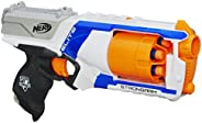 Nerf N Strike Elite Strongarm Toy Blaster with Rotating Barrel, Slam Fire, and 6 Official Nerf Elite Darts for