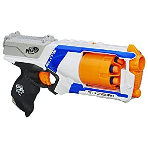 Nerf-N-Strike-Elite-Strongarm-Toy-Blaster-with-Rotating-Barrel-Slam-Fire-and-6-Official-Nerf-Elite-Darts-for-Kids-Teens-Adults Amazon-Exclusive