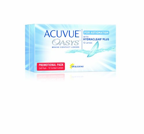 Acuvue Oasys for Astigmatism 2-Wochenlinsen weich, 12 Stück / BC 8.6 mm / DIA 14.5 / CYL -1.25 / Achse 90 / 0.25 Dioptrien