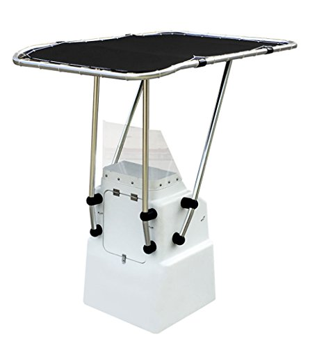 Oceansouth Heavy Duty Boat T Top Black, Clamp on for Standard Center Console, Aluminum ()