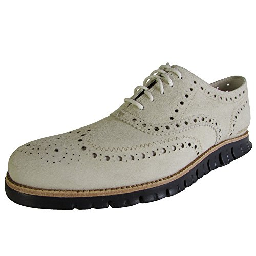 Cole Haan Mens Zerogrand Wing Oxford Moonbeam / Navy Ink