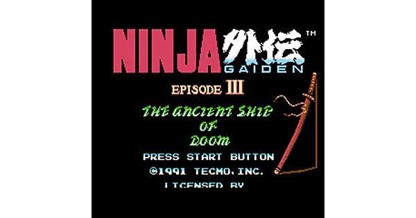 Amazon.com: Ninja Gaiden 3 Region Free 8 Bit Game Card For ...