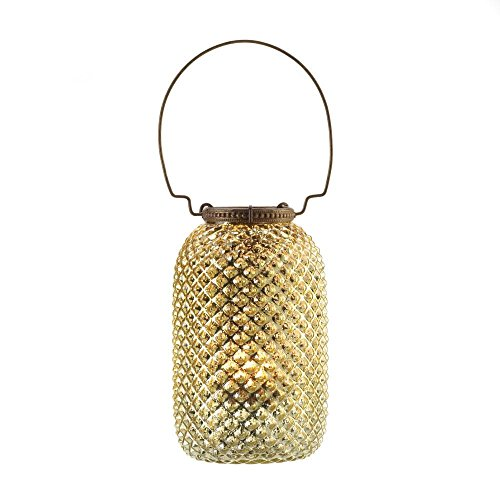 SSJSHOP Golden Diamond Vintage Style Glass Candle Lanterns Holders Centerpiece Home Decorations (Skyrim Wedding Ring)