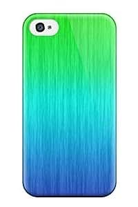 Lindo alta calidad iphone 4/4S verde y azul Funda