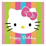 Hello Kitty 'Rainbow Stripes' 'Happy Birthday' Large Napkins (16ct)