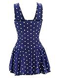 ECOFUN Womens Plus-Size Polka Dot Shaping Body One Piece Swim Dresses Swimsuits