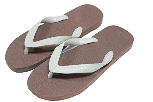 Ruay Tang Mens Gummi Strand Flip Flops Sandaler Brawn - Grå
