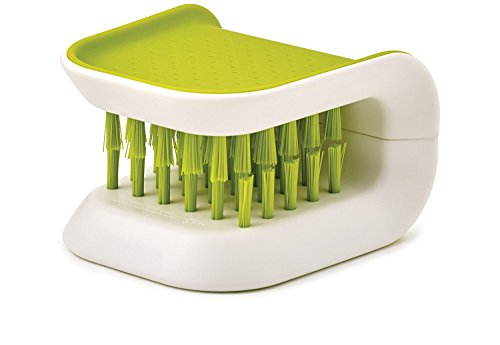 Blade Brush Knife and Cutlery Cleaner Green Brush Bristle Scrub for Kitchen Washing Non-Slip by Lucky Shop1234