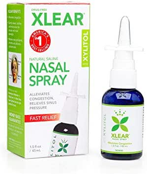 Xlear Nasal Spray with Xylitol, 1.5 fl oz (Pack of 3)
