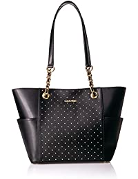Key Item Studded Chain Tote