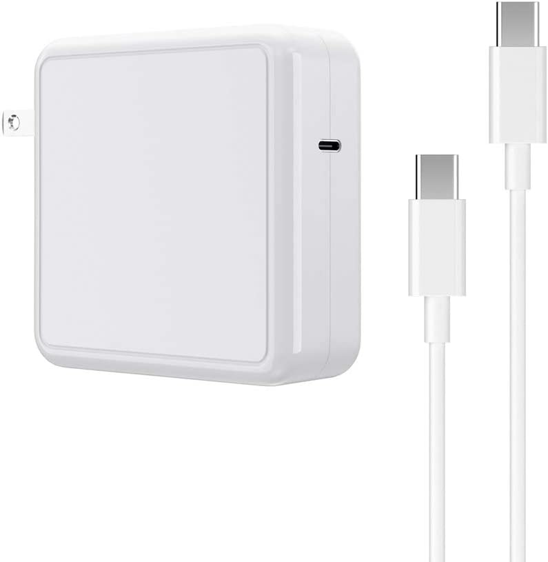 SIMPFUN Mac Book Pro Charger, 87W USB C Charger Fast Charging Power Adapter Compatible with Mac Book Pro 15/13 Inch and Mac Book air 13 inch (2018/2019/2020) with 6.56FT Cable