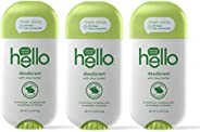 Hello Shea Butter Fresh Citrus Deodorant for Women + Men - Aluminum Free, No Baking Soda, Parabens, or Sulfate