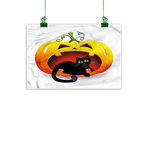 duommhome Wall Stickers for Boys Pumpkin Hand Painted Halloween Theme Black Cat 16
