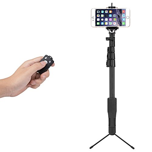 accmor st1 bluetooth selfie stick with tripod stand for iphone 6s plus 6 plu. Black Bedroom Furniture Sets. Home Design Ideas
