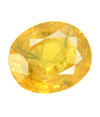 Certified 9.10 Ct Oval Cut Yellow Sapphire Loose ()