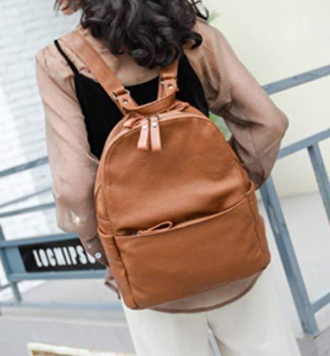 Per Morbido Il Fashion Libero Morbido Zainetto In Brown Libero Zaino Tempo Tempo Il Per In Daypack Zaino Zainetto XZWNB 1zxnXwza
