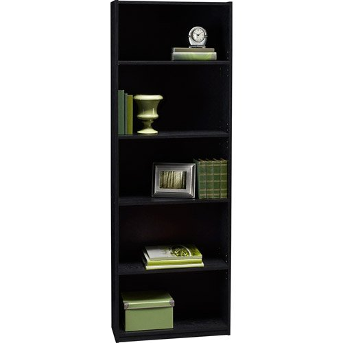 ameriwood 5 shelf adjustable bookcase black color very affordable bookshelves make a nice addition to any bedroom or living room - Affordable Bookshelves
