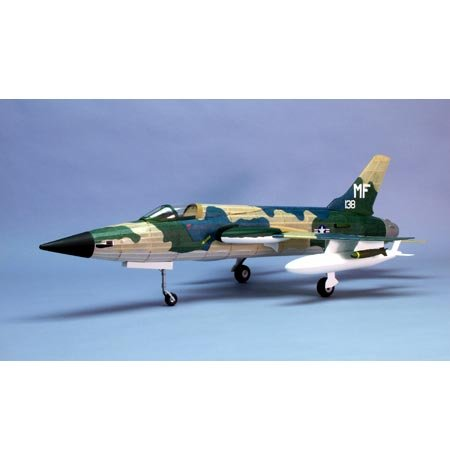 Laser 105 (F-105 Thunderchief Laser-Cut Wooden Model Airplane by Dumas)