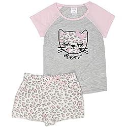 St. Eve - Pijama Corto de Forro Polar para niña (2 Piezas), Gato, X-Small