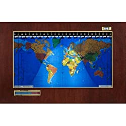 Original Kilburg Geochron World Clock Finish: Wood Veneer Mahogany