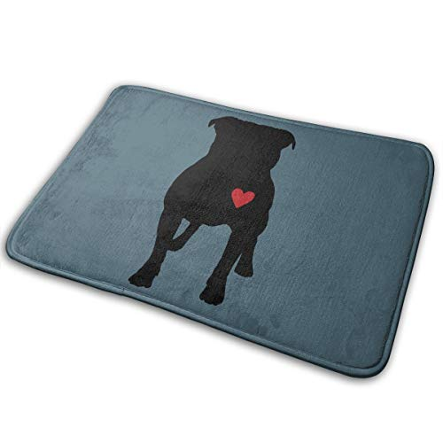 LNUO-2 Indoor Outdoor Door Mat Pitbull Silhouette Rug Floor Mats for Pets, Shoe Rugs (Mats Xmas Door)