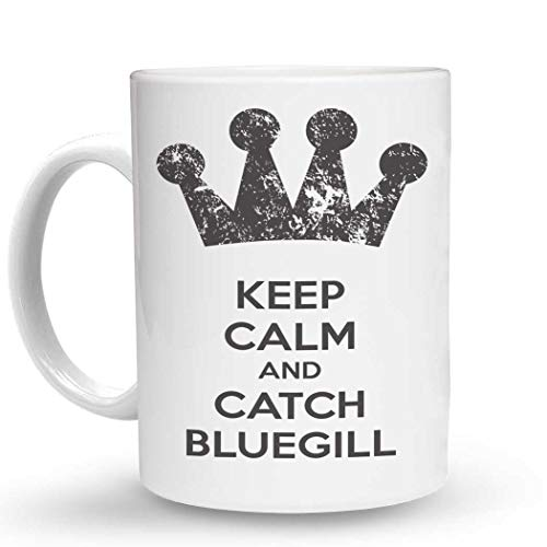 Makoroni - KEEP CALM AND CATCH BLUEGILL - 11 Oz. Unique COFFEE MUG, Coffee ()