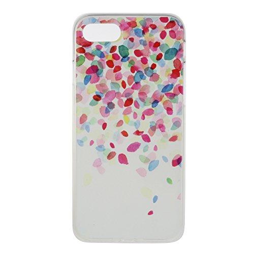 Custodia iPhone 7 / iPhone 8 , LH Pétalos TPU Trasparente Silicone Cristallo Morbido Case Cover Custodie per Apple iPhone 7 / iPhone 8 4.7
